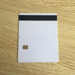 White SLE4442 contact chip pvc smart card with Hico magnetic stripe