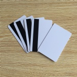 PVC Blank White Plastic Cards 30Mil LoCo Magnetic card Mag Stripe printable for card printer CR80